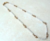 Vintage Faux Pearl Necklace By Napier.
